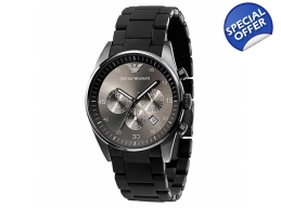 Armani AR5889 - Mens Sports Chronograph Silicone..