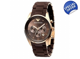 Emporio Armani AR5890 - Mens Brown Dial Chrono W..
