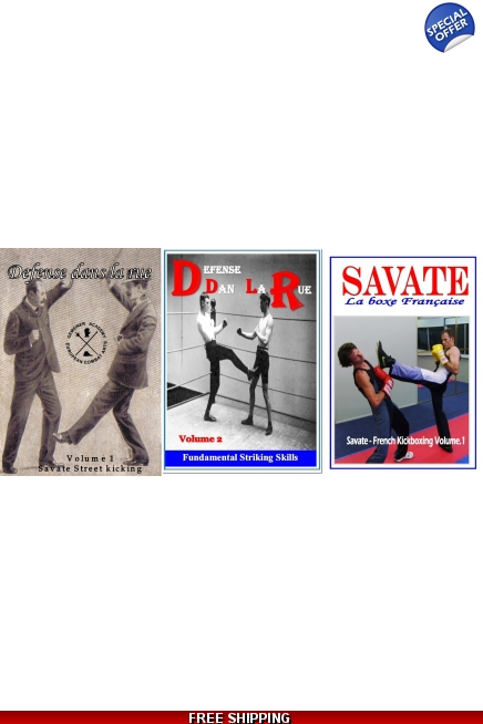 Defense dans la Rue Vol.1 & 2  & Savate Kickboxing Set