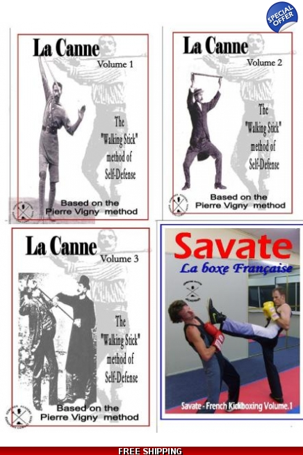 La canne & Savate kickboxing Set