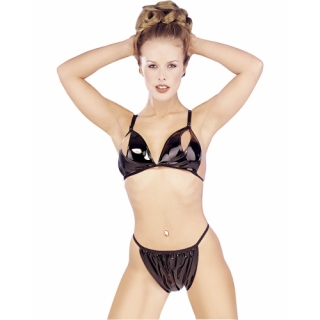 PVC SPLIT BRA + BRIEF