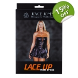 PVC LACE-UP MINI DRESS