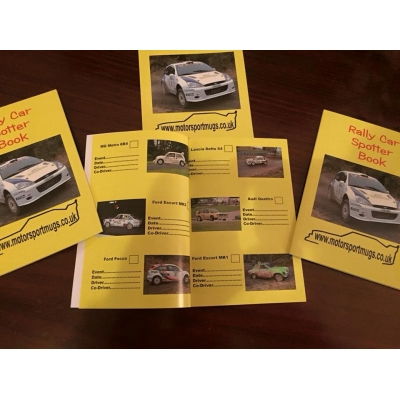 Rally car spotter book