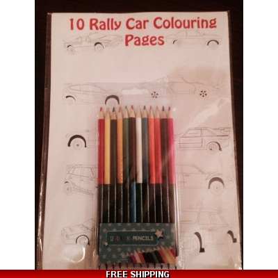 10 Rally car colouring Pages