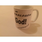 Dear god pacenote mug