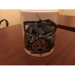 koolart Subaru cartoon  Rally Car Mug