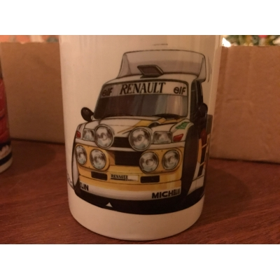 koolart cartoon Renault 5 Rally Car Mug