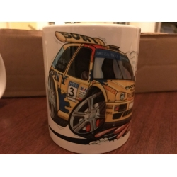 koolart cartoon Vw golf gti Rally Car Mug