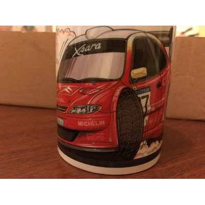 koolart cartoon citroen xsara Rally Car Mug