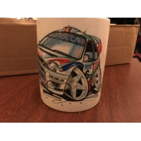 koolart cartoon toyota corolla Rally Car Mug