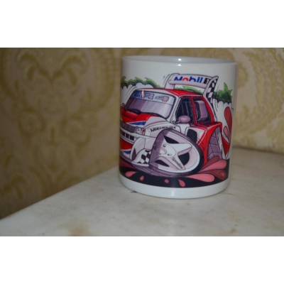 Koolart  Metro 6R4 Rally Car 10oz white ceramic mug