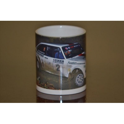 Steve Bannister Rally Car photo 11oz ceramic mug.