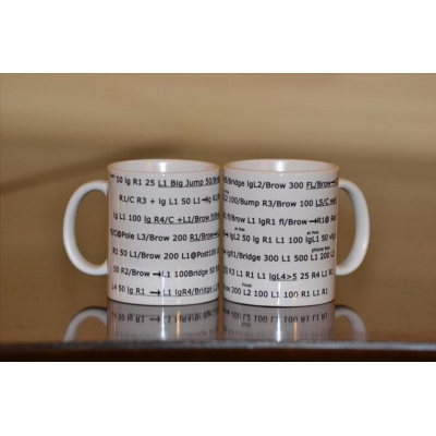 Isle of Mull 2 mug set Gribun Numbered Pacenote mugs
