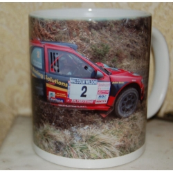Andy Burton Peugeot Cosworth Rally Car 11oz ceramic mug