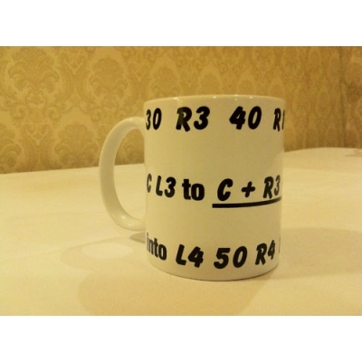 Rally Numbered Pacenote printed 11oz ceramic mug