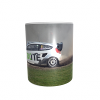 Oliver Bennett  Rallycross Car 11oz ceramic mug ..