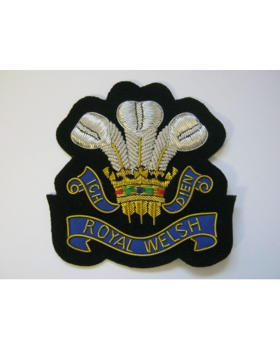 Royal Welsh Regiment Bullion Blazer Badge