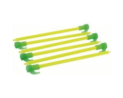 Fluorescent Tent Pegs - Pack of 6