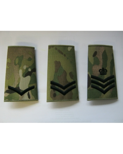 Multicam Rank Slide with Black Embroidery