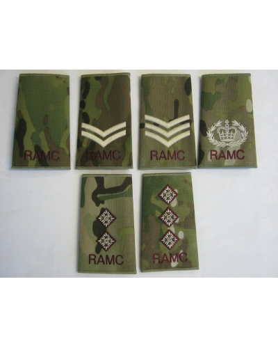 Royal Army Medical Corps Multicam Rank Slide