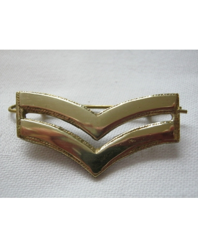 British Army Brass Corporal Chevrons