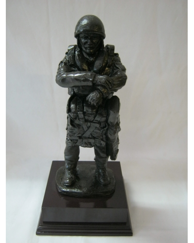 Airborne Drop Order Bronze Resin Figure