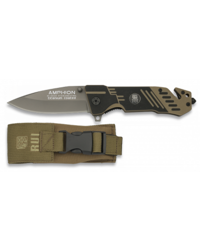 Rui Tactical Amphion Pocket Knife with Nylon Pouch