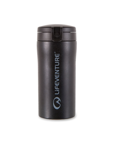 LifeVenture Flip Top Thermal Mug in Black
