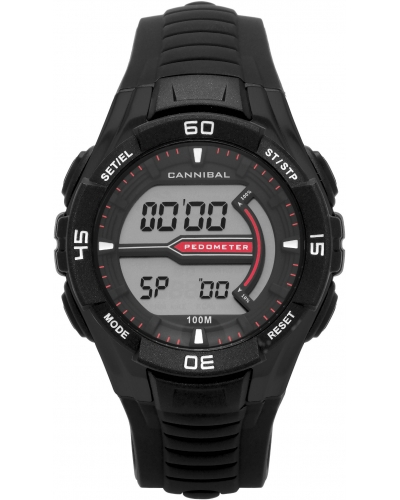 Cannibal Digital Alarm Chronograph Black Watch CD278-01