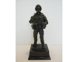 Female Combat Soldier  Bronze Resin Fi..