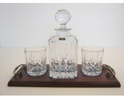 Crystal Whisky Decanter Set 2 Glass