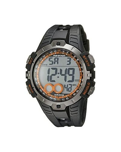 Timex Marathon Orange/Black Digital Watch
