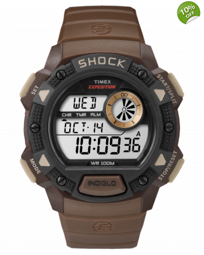 Timex Expedition  Base Shock Digital Watch in Brown