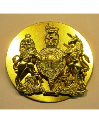 British Army WO1 Brass Crown with Backing Plate