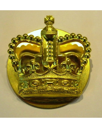 British Army WO2 Brass Crown with Backing Plate