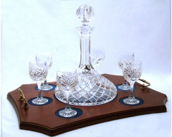 Ships decanter and 6 port glasses
