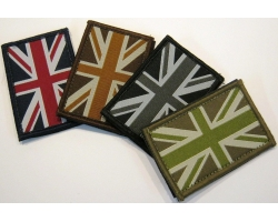 Union Jack Patch with Hook and Loop Ba..