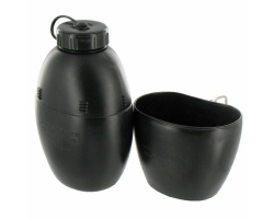 58 Pattern Water Bottle Black