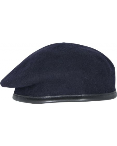 Navy Blue Beret - Silk Lined