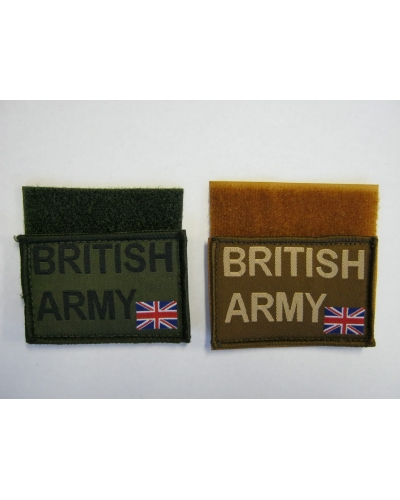 British Army Patch - Hook & Loop Backing