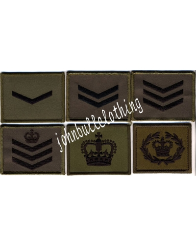 Commando Rank Square - Hook & Loop Backing
