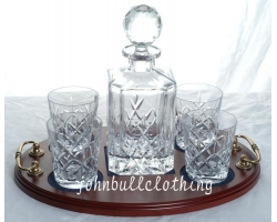 Crystal Whisky Decanter Set 4 Glass