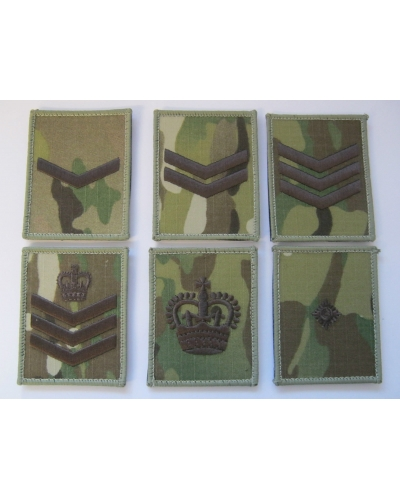 Multicam Rank Square - Hoop & Loop Backing