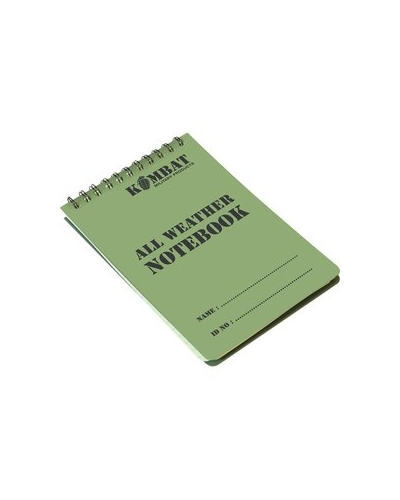 A6 Spiral Bound Waterproof Notebook