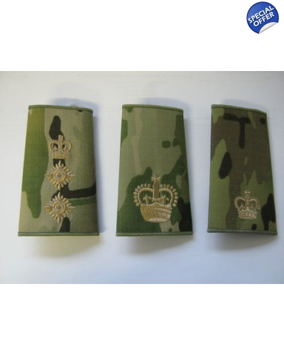 Multicam Rank Slide with Gold Embroidery