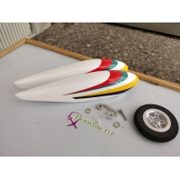 Painted spats,wheel & axle sets