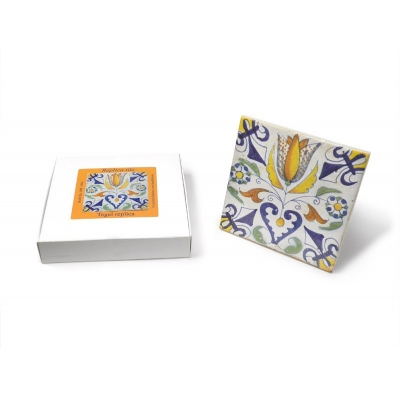 Tile with a Dutch motif..