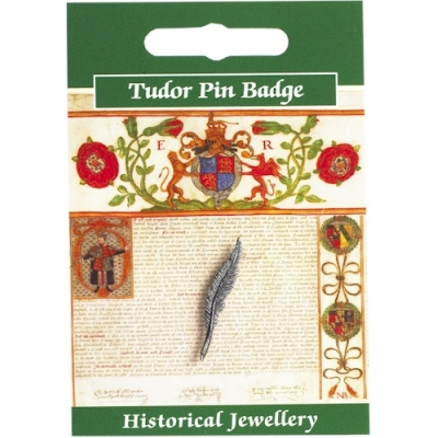 Tudor Quill Pin Badge