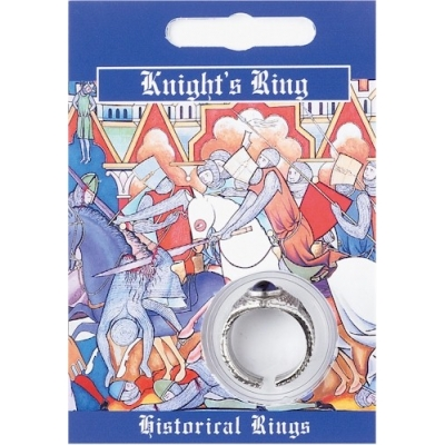 Knights Gem Ring - Pewter