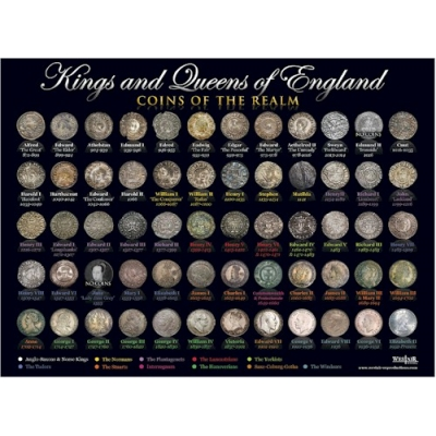 Kings & Queens Coin Poster -..